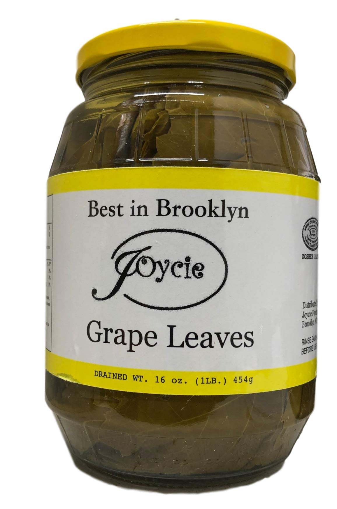Joycie Brooklyn's Best Grapes Leaves, 16 Ounce (Pack of 6) by Joycie