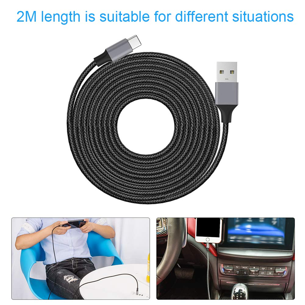 Pixel 4351490918 Samsung S8 aceyoon USB C/Magnetic/Charger 3.0 87W PD Cable 6ft 1.8m Max 4.3A Power Delivery Magnetic USB Type C to USBC Braided Quick Charge Cord Support Data Compatible for MacBook Pro 2018