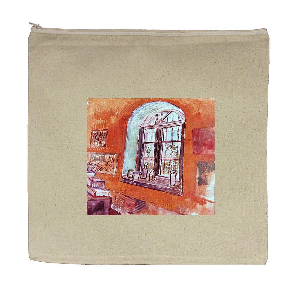 Window Vincent Studio Asylum (Van Gogh) Canvas Zipper Tote Bag Makeup Bag