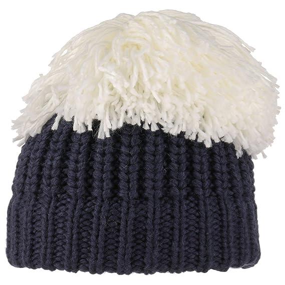 adfddb39049e Lipodo Bonnet en Tricot avec Pompon XXL a (Taille Unique - Bleu Fonce)