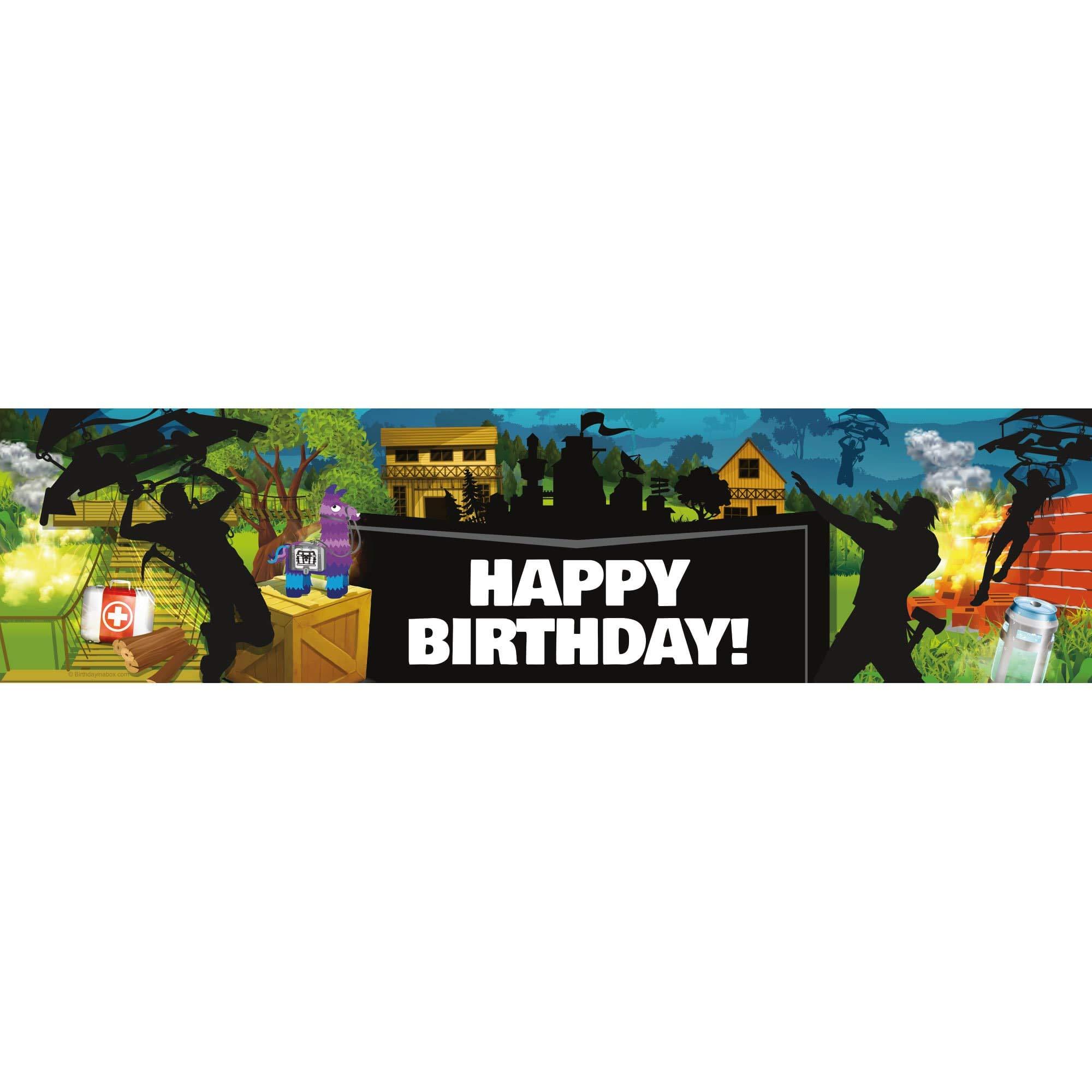 Battle Game Happy Birthday Banner (1)