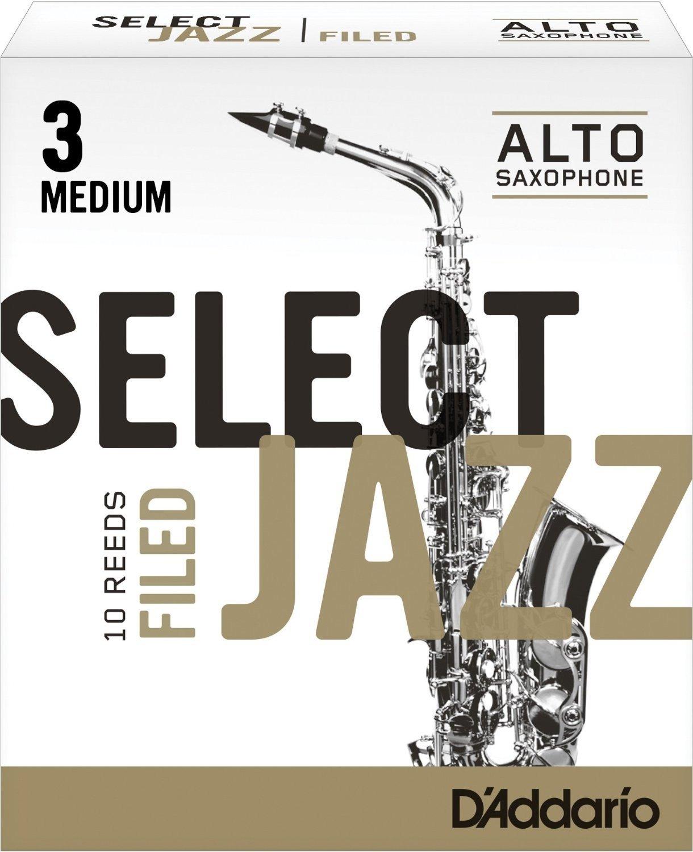 CAÑAS SAXOFON ALTO - D´Addario Rico (Select Jazz) Filed (Dureza 3 MEDIA) (Caja de 10 Unidades)