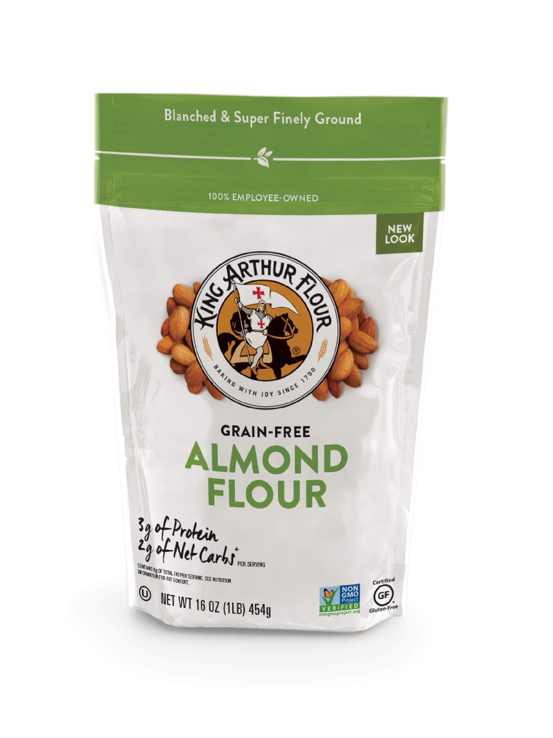 King Arthur Flour, Almond Flour, Gluten Free Certified, Non Gmo Verified, Finely Ground, 16 Oz, 4Count by King Arthur Flour