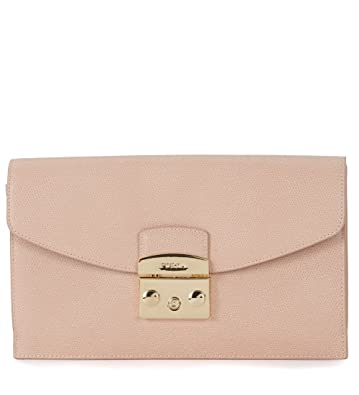 1f80b7f3111b Amazon.com  Furla Women s Furla Metropolis Envelope Pink Calf Leather  Pochette Pink  Shoes