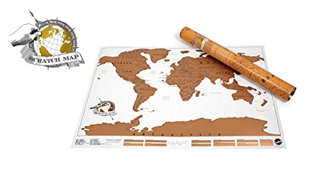 World scratch map l819 x w 582cm amazon kitchen home world scratch map l819nbspx publicscrutiny Image collections