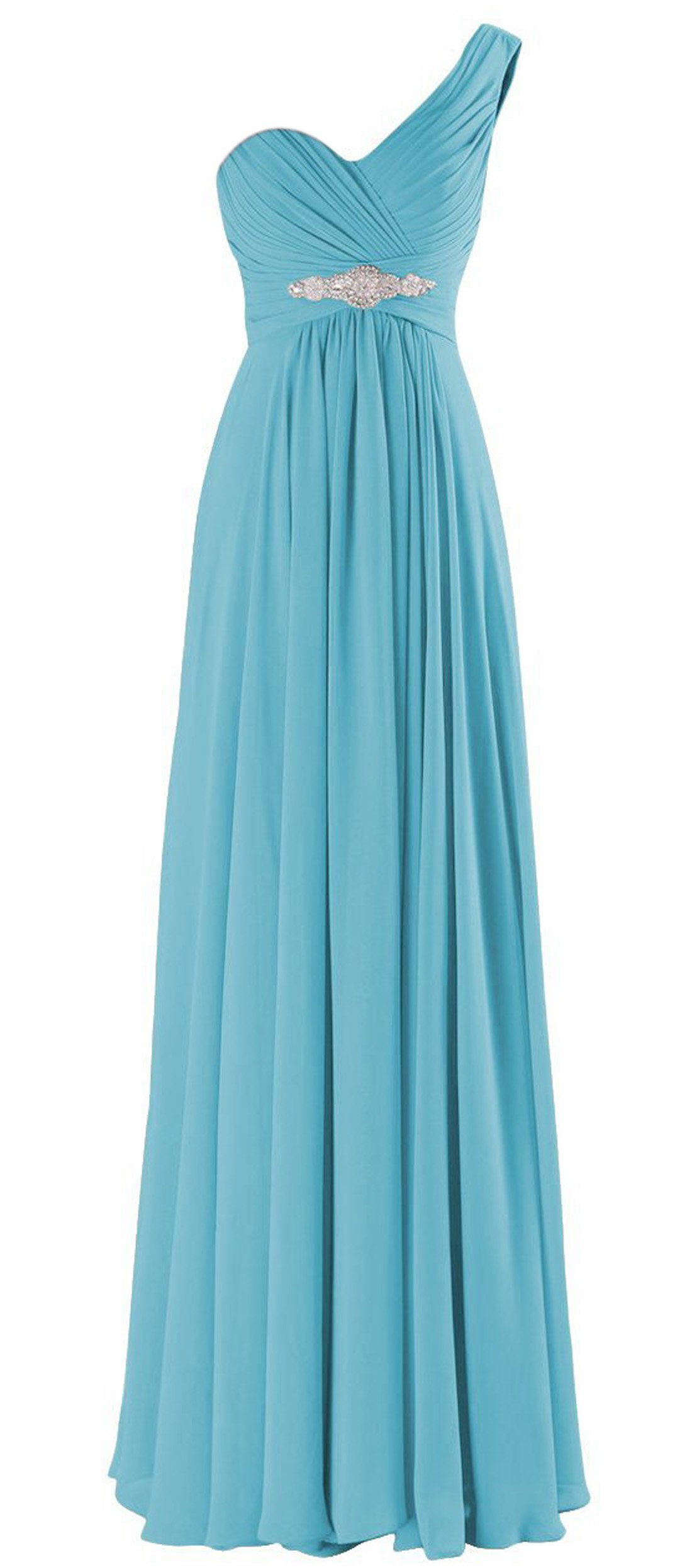 ThaliaDress Women One Shoulder Formal Evening Bridesmaid Dress Prom Gown T198LF Blue US18W