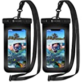 Syncwire Waterproof Phone Pouch [2-Pack] - Universal IPX8 Cell Phone Waterproof Case Dry Bag Protector with Lanyard for Takin