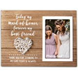 VILIGHT Bridesmaid Gifts - Maid of Honor Gift Rustic Picture Frame - 4x6 Inches Photo