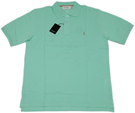 "9fc2d9c25eb Yves Saint Laurent ""Aquamarine mens with logo polo shirt (turquoise/sky  blue"