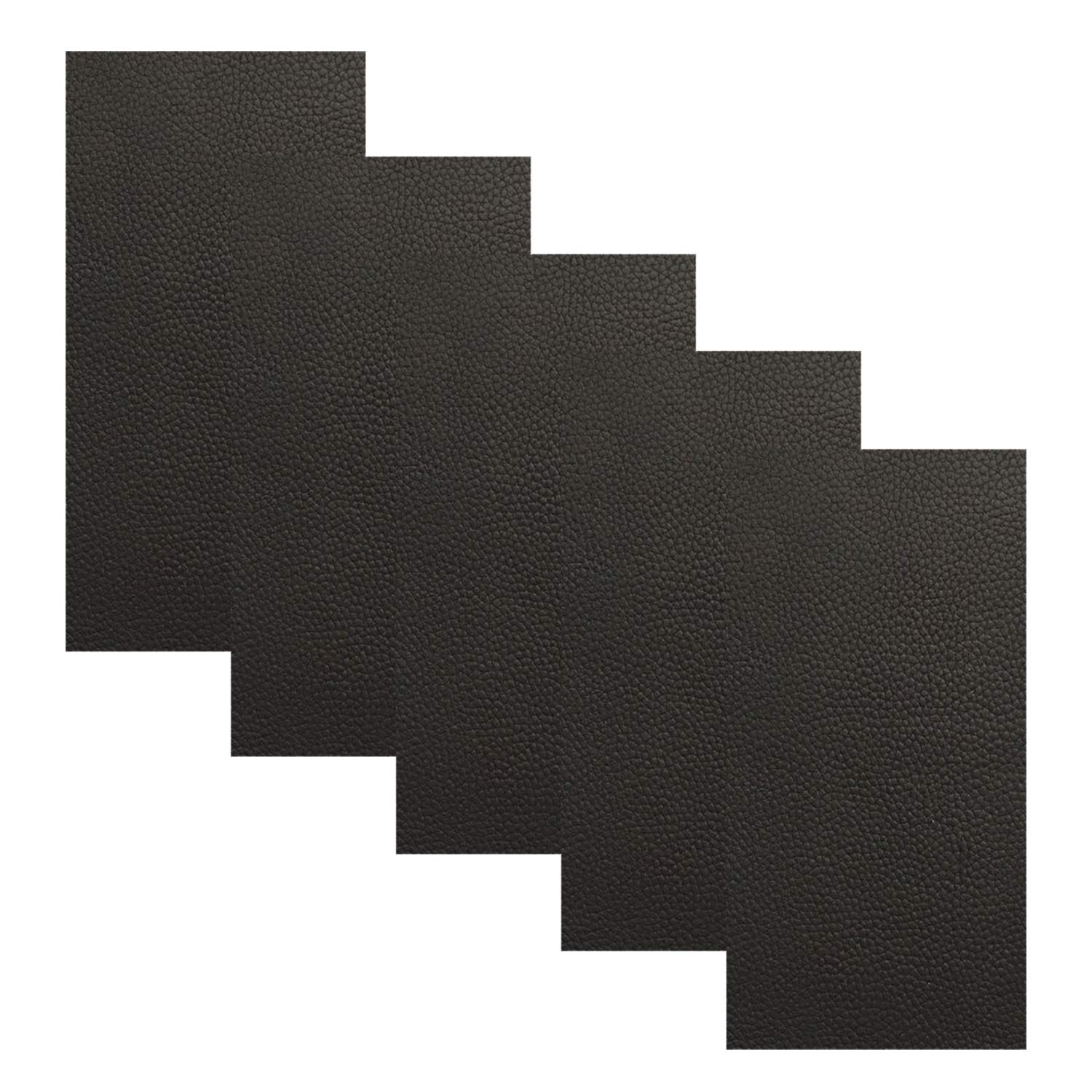 Leather Repair Patch - 5 Pieces Leather Adhesive Patches for Couch Furniture Sofas Car Seats Handbags Jackets (Dark Brown) DOCHY 4336847732