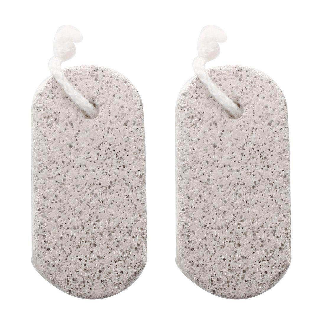 SODIAL(R) 2PCS Feet Skin Care Hard Cuticle Remover Pedicure Foot pumice stone Natural Bath 072937