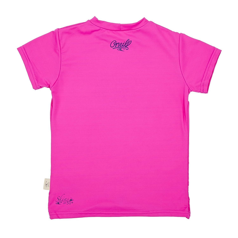 O;Neill Youth Kids Junior M/ädchen Kurzarm Rash T-Shirt T-Shirt Top Berry UV-Sonnenschutz und SPF-Eigenschaften