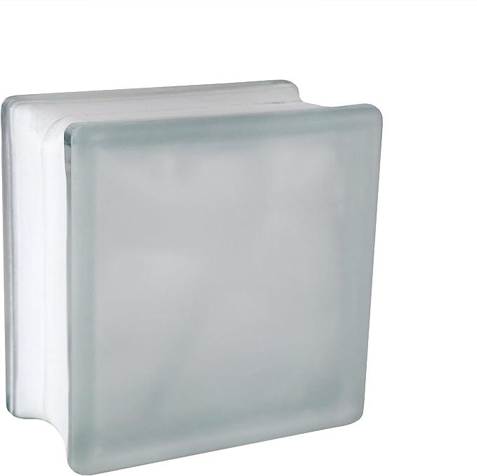 4 piezas FUCHS bloques de vidrio nube neutro 19x19x10 cm