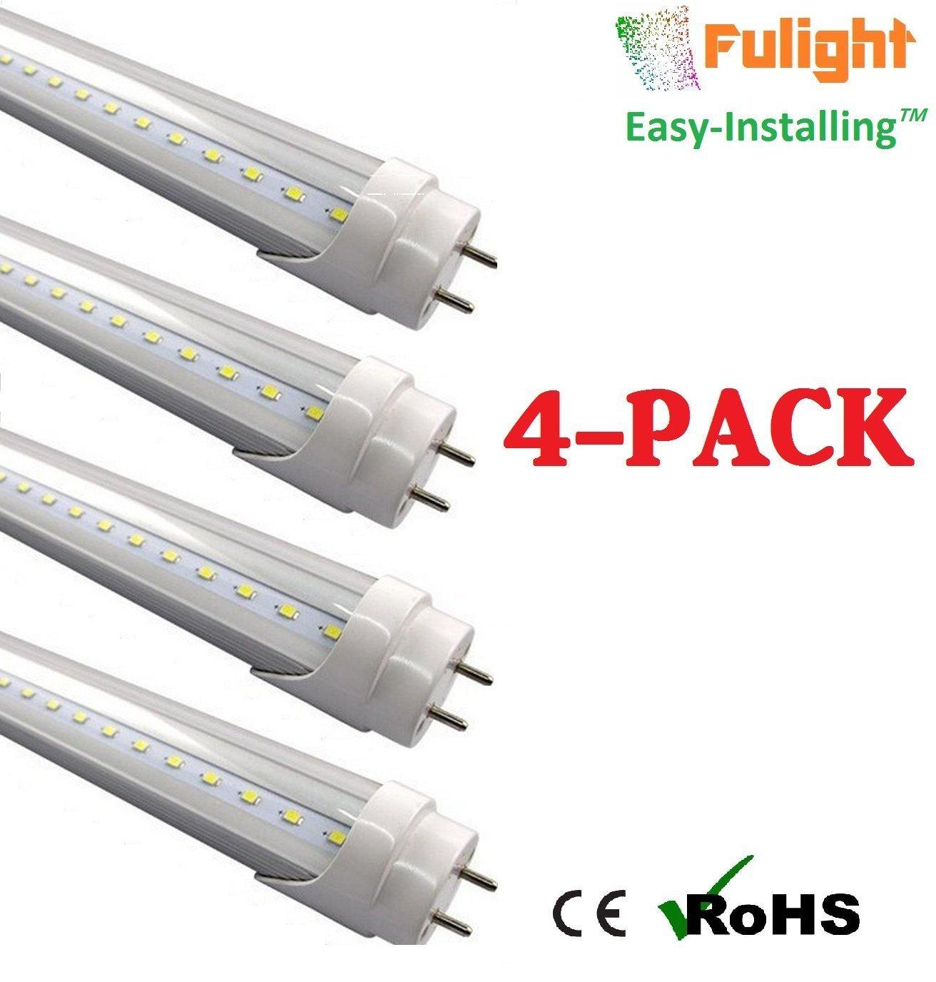 Fulight Easy Installing Clear T8 Led Tube Light 2ft 24 10w Wiring Pendaflour Lamp 18w Equivalent Cool White 4000k F17t8 F18t8 F20t10 F20t12 Cw Double End Powered