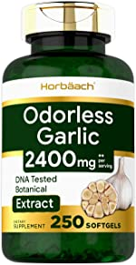 Odorless Garlic Softgels | 2400 mg | 250 Count | Ultra