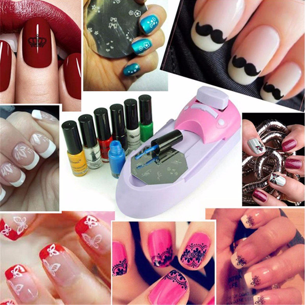 Nail printer, DancingNail Stempelmaschiene Nail Art Drucker ...