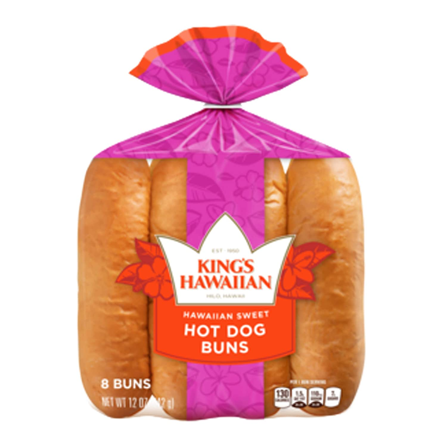 Amazon Com Kings Hawaiian Sweet Hot Dog Buns 12 Ounce 12 Per Case Grocery Gourmet Food