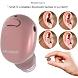NENRENT S570 Bluetooth Earbud, Smallest Mini V4.1 Wireless Bluetooth Headset Headphone Earphone with Mic Hands-Free Calls for iPhone iPad Samsung Galaxy LG and Other Smartphones-1 Piece (Rose Gold)