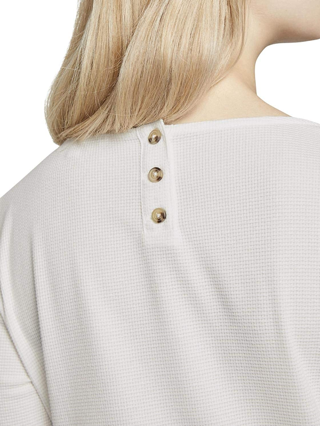 TOM TAILOR DENIM Damen Leichtes Strukturshirt Bluse