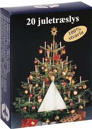 Jeka 20 Pieces Tree Candles 13 x 105 mm White Wax