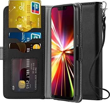 Ferilinso Funda para Huawei Mate 20 Lite,Carcasa Cuero Prima Auténtico Real con ID Tarjeta de Crédito Tragamonedas Soporte de Flip Cover Estuche de Cierre magnético para Huawei Mate 20 Lite (Negro): Amazon.es: