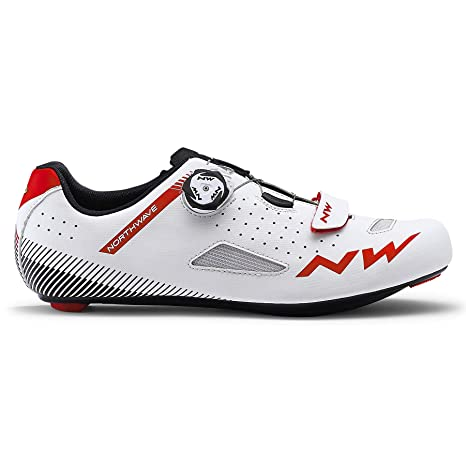Northwave Zapatillas Carretera Core Plus Blanco/Rojo - Talla: 44