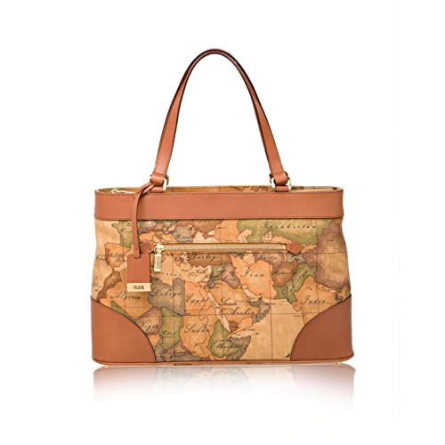 ALVIERO MARTINI PRIMA CLASSE Borsa sottospalla in stampa geo NATURAL   Amazon.it  Scarpe e borse c84682f40e7