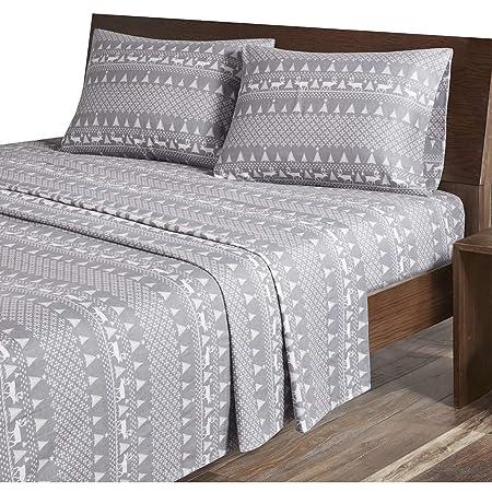 Woolrich Juego de sábanas de Franela de algodón Impreso, Gris ...