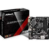 Asrock 90-MXB3T0-A0UAYZ - Placa Base (A320m-Hdv, AMD, Am4, A320, 2ddr4, 32gb, Vga+Dvi+Hdmi, Gblan, 4sata3, 6usb3.1, Matx)