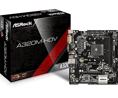 Amazon com: ASRock A320M-HDV Motherboard: Computers