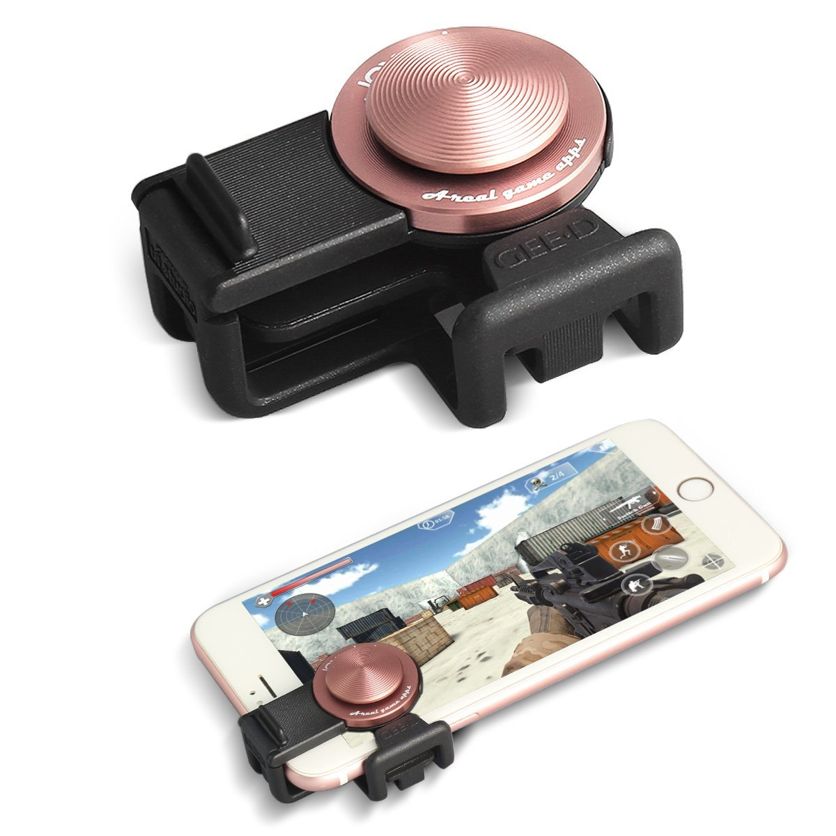 Controlador de juegos con joystick para teléfonos móviles