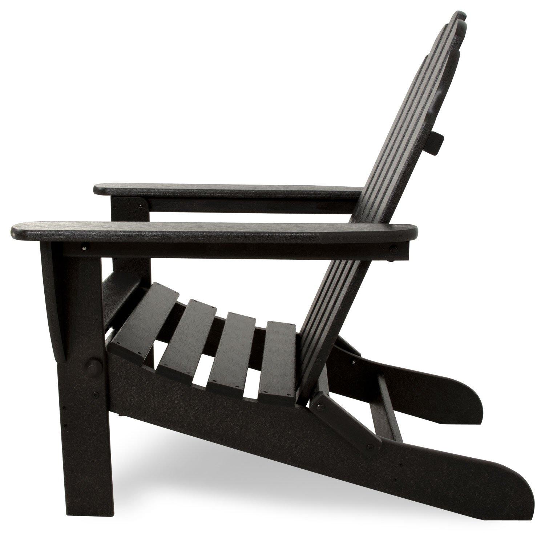 Ivy Terrace Ivad5030bl Classics Folding Adirondack Chair