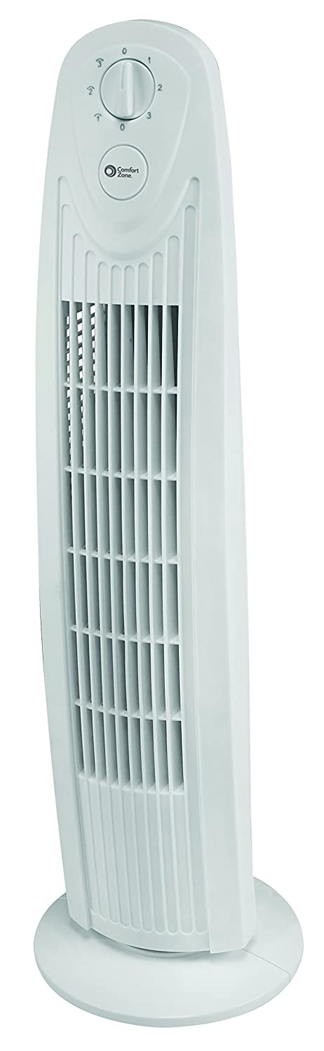 CCC Comfort Zone 29 Inch Oscillating Tower Fan - CZTF329WT