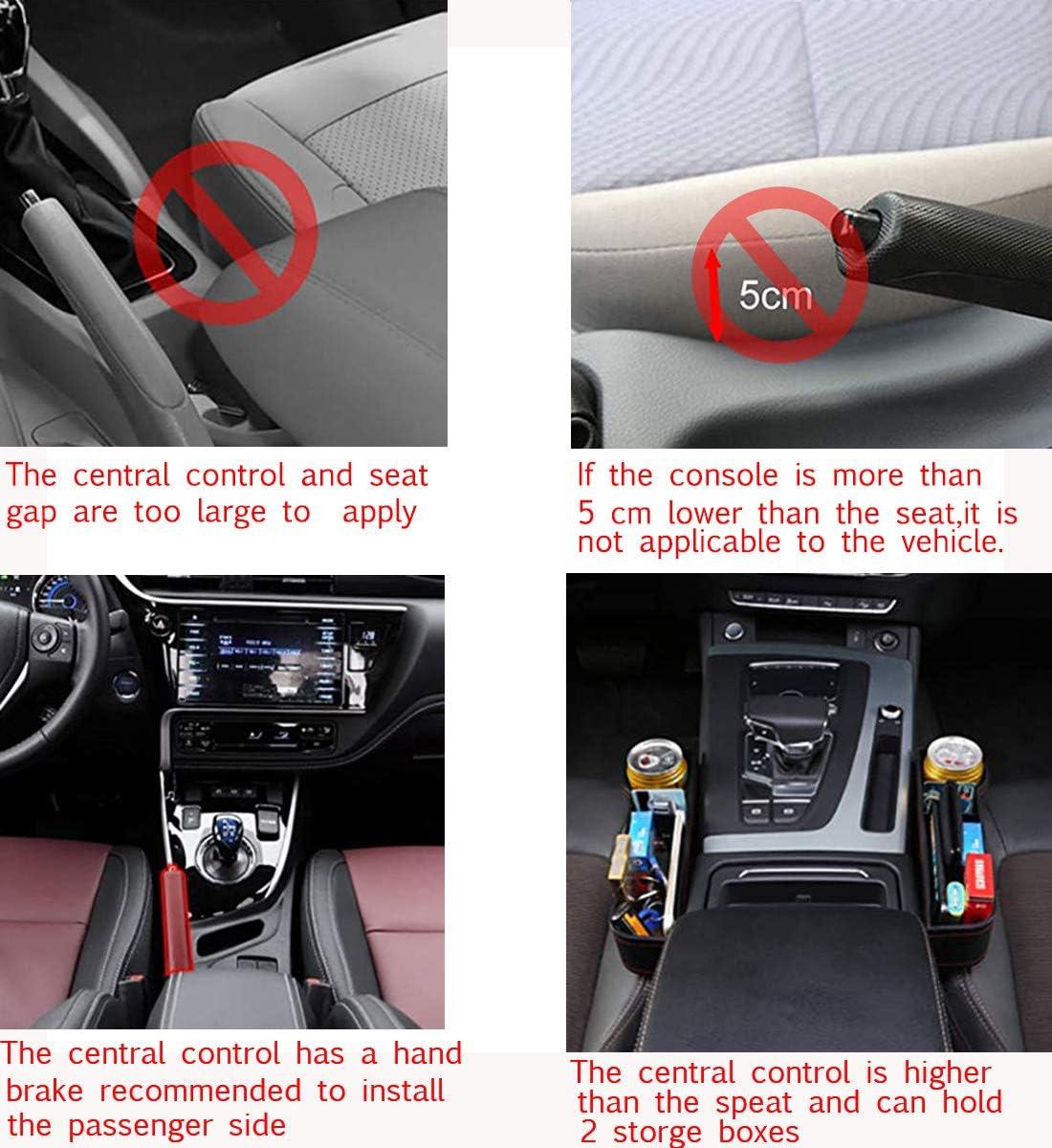 2x schwarz Autositz Lücke Ablagefächer Lückenfüller Storage Box für Audi BMW VW