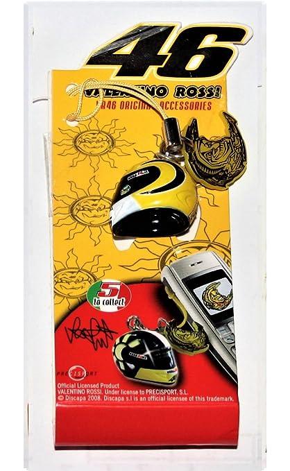 VR46 - Llavero con casco colgante de Valentino Rossi. Giallo/Nero