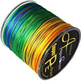 8 Strands Braided Fishing line 300m Multi Color Super Strong Japan Multifilament PE braid line 10LB 20LB 30LB 40LB 108LB 128lb