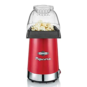 Throwback 60061 Popper Hot Air Popcorn Maker, One Size Red