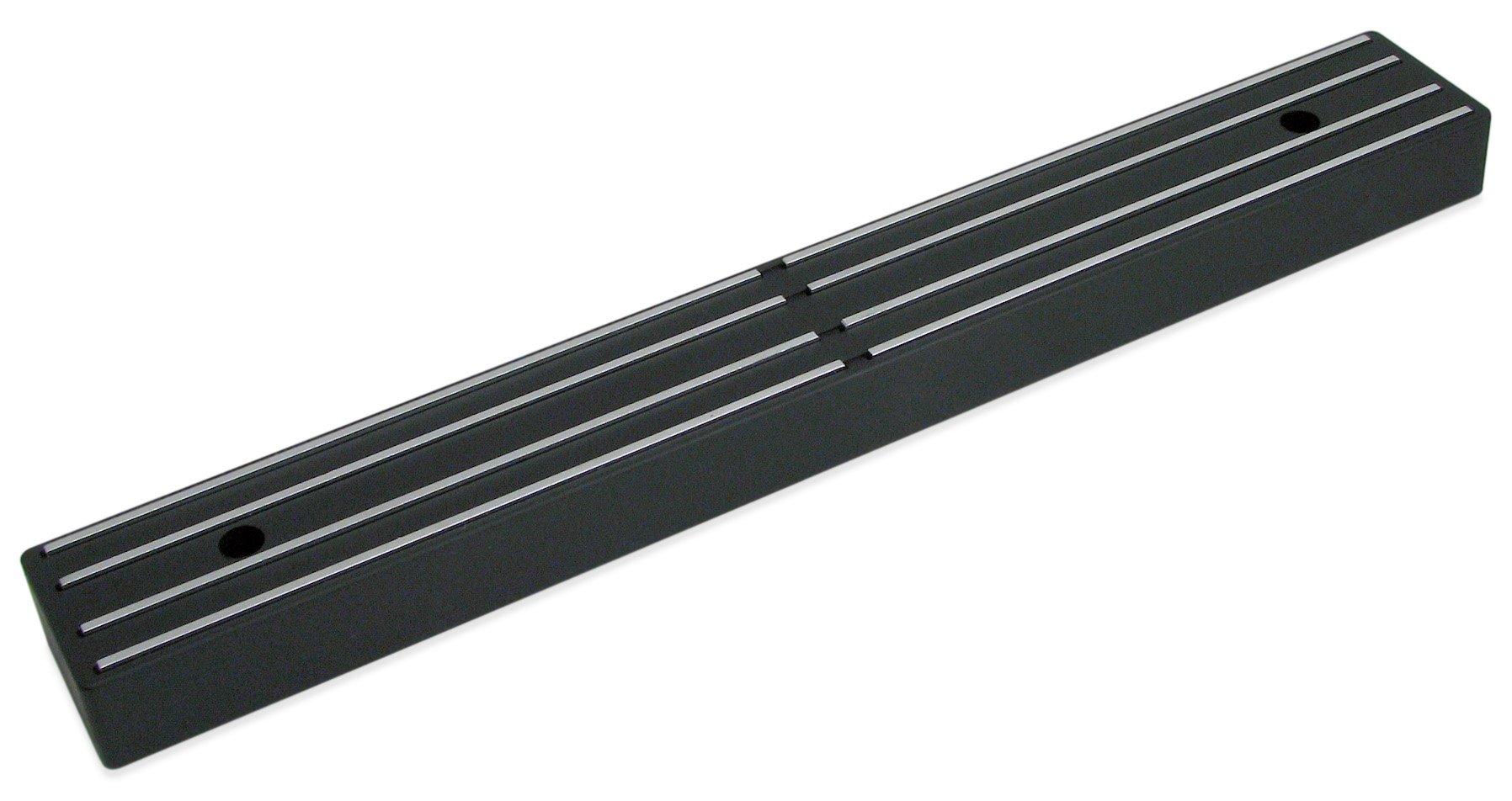 Master Magnetics Magnetic Tool Holder/Magnetic Knife Holder, 12-inch Double-Sided Magnet Strip, Mount on Metal Surface (Black) 07577