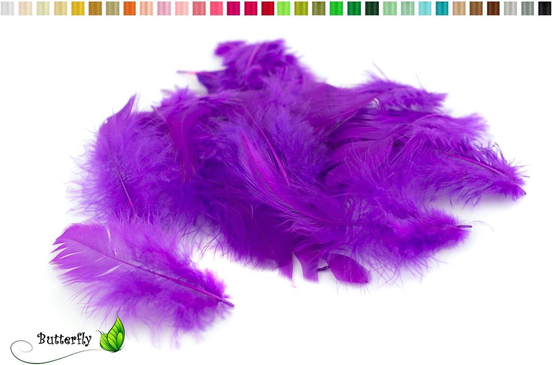 colori assortiti parme 462 Bustina con 20/piume di marab/ù di 6-10/cm