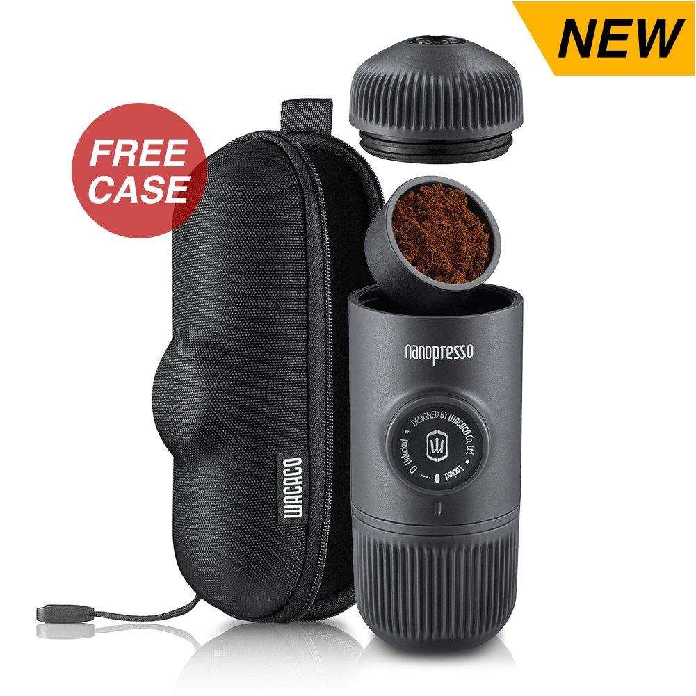 Wacaco Nanopresso Upgrade For Minipresso Portable Manual Espresso Coffee Maker Protective Case Included 18 bars (261 PSI) Maximum Pressure Travel Bottle