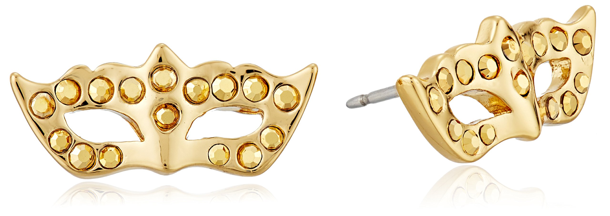 kate spade new york Mask Studs Gold/Multi-Colored Stud Earrings