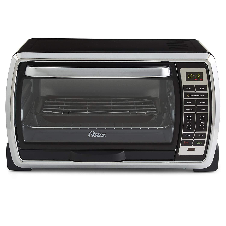 [(オスター)Oster][Oster Large Digital Countertop Convection Toaster Oven, 6 Slice, Black/Polished Stainless (TSSTTVMNDG-SHP-2)](並行輸入品)   B07KSPRKVG