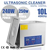 HappyBuy Ultrasonic Cleaner 10L Large Commercial Ultrasonic Cleaner Stainless Steel Ultrasonic Cleaner With Heater And Digital Control Ultrasonic Cleaner Solution Heated With Jewelry