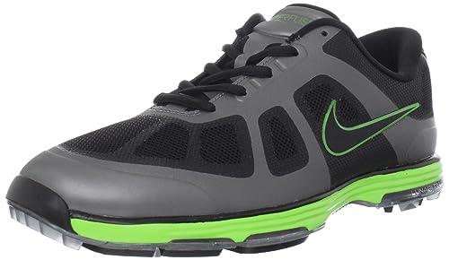 innovative design 5f576 27f9d Nike Golf Men s Lunar Ascend Golf Shoe,Black Grey Electric Green,10