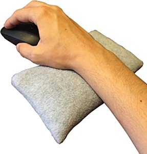 Ergonomic Wrist Rest Bean Bag for Computer Mouse for Pain Relief of Tendinitis, Carpal Tunnel, and Forearm Discomfort