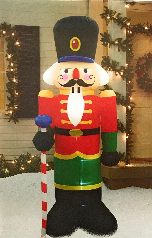 Amazon.com : Christmas Inflatable Nutcracker, 8 Ft. Tall, LED Light ...
