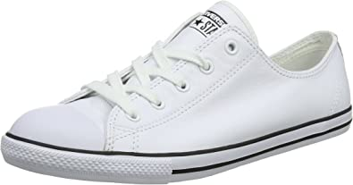 Converse Dainty Leath Ox, Baskets Basses Femme