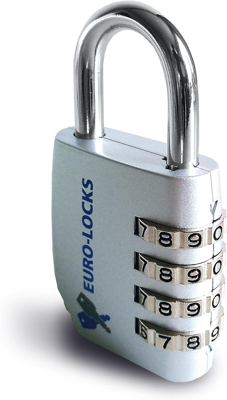 Candado Cerradura Combinación numérica, Euro de Locks A220: Amazon ...
