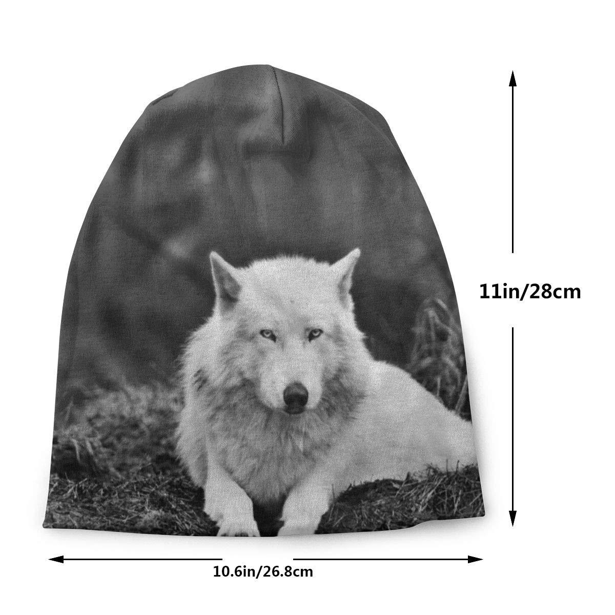 deyhfef Skull Cap Wolf Forest Solitary Polar Beanie Cap Sombrero ...