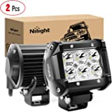 Nilight - 60001SB Led Pods 2PCS 18W 1260LM Spot Led Off Road Lights Super Bright Driving Fog Light Boat Lights Driving Lights